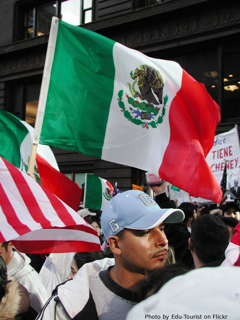 Mexican Flag Protest